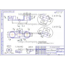 ПС-128.06.01.101.001 - Гильза сдвоенная - чертеж