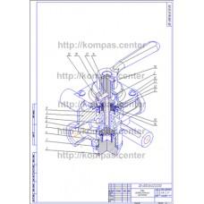 00-000.06.02.02.00 - Кран разобщительный изометрия - чертеж