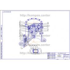 00-000.06.04.04.00 - Привод пневматический изометрия - чертеж