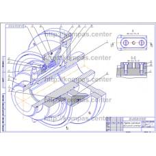 00-000.06.10.10.00 - Муфта сцепления фрикционная изометрия - чертеж