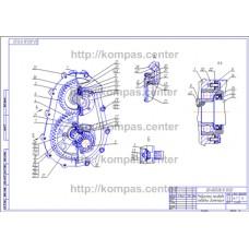 00-000.06.13.13.00 - Редуктор привода лебедки диметрия - чертеж