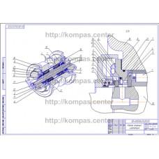 00-000.06.20.20.00 - Каток опорный изометрия - чертеж