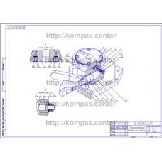 00-000.06.24.24.00 - Приспособление делительное изометрия - чертеж