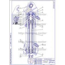 00-000.06.26.26.00 - Пневмоцилиндр изометрия - чертеж