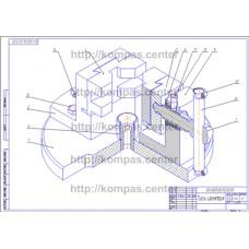 00-000.06.30.30.00 - Тиски изометрия - чертеж