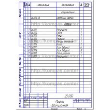 25.000 - Муфта фрикционная спецификация