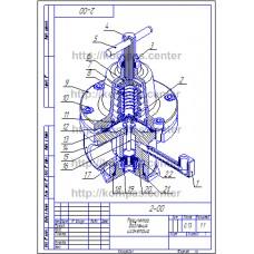 2-00 - Регулятор давления изометрия - чертеж
