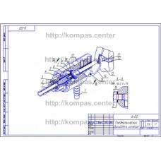 6-00 - Пневматический сбрасыватель изометрия - чертеж