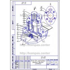 12-00 - Штамп для изготовления фанерных решеток изометрия - чертеж