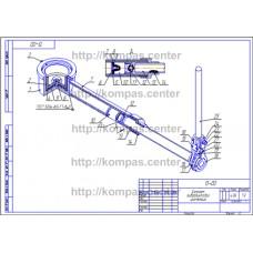 13-00 - Домкрат гидровинтовой изометрия - чертеж