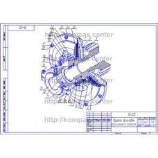 16-00 - Муфта дисковая фрикционная изометрия - чертеж