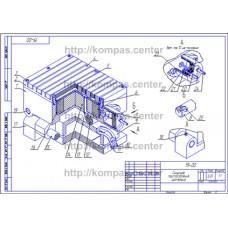 19-00 - Синусное приспособление изометрия - чертеж