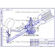 22-00 - Приставка индикаторная к прессу Бринеля изометрия - чертеж