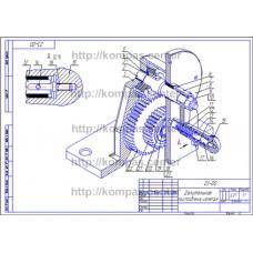 23-00 - Делительное приспособление изометрия - чертеж