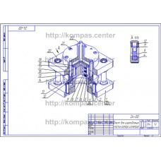 24-00 - Штамп для изготовления пластин ротора изометрия - чертеж
