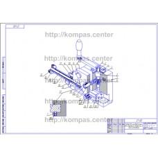 27-00 - Кондуктор универсальный для сверления отверстий в осях изометрия - чертеж
