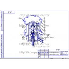 29-00 - Пневмогидравлический клапан изометрия - чертеж