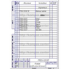 МЧ00.41.00.00 - Клапан предохранительный - спецификация