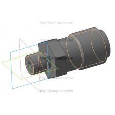 МЧ00.02.00.02 - Штуцер - модель