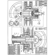 71.91.00.00 Клиноременной вариатор с раздвижными шкивами