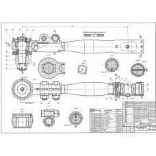 86.33.00.00 Продольная рулевая тяга автомобиля МАЗ-200